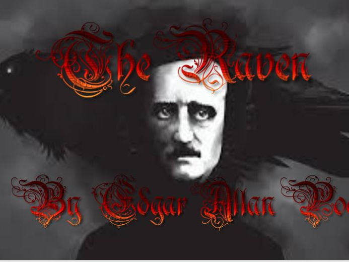 "Edgar Allan Poe's poem ""The Raven."""