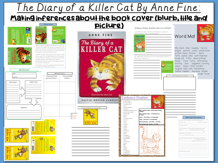 The Diary of a Killer Cat: Prediction / Inferences about the Book Cover (blurb, title and pictures)