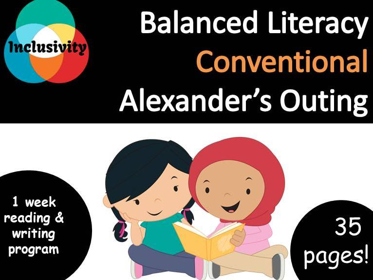 Balanced Literacy, Conventional, Alexander's Outing by Pamela Allen - Inclusivity