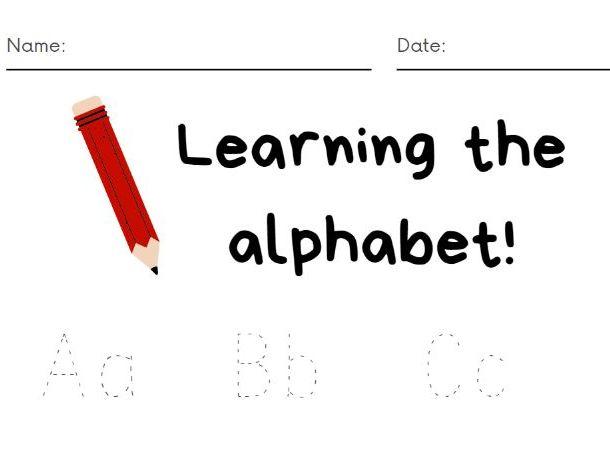 Learning the Alphabet (sentence case)