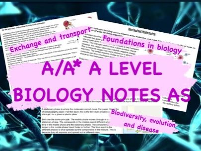 A/A* OCR A Level Biology Notes- AS