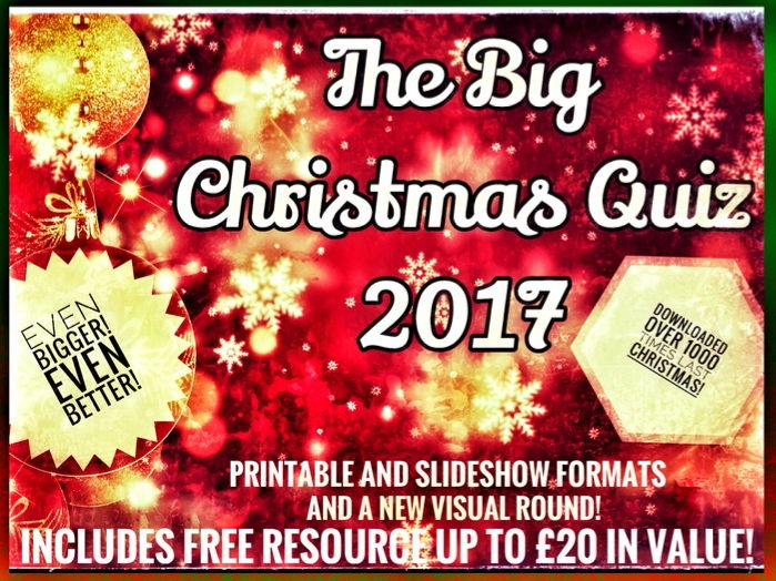 Christmas Quiz 2017. Christmas Quiz Slideshow Edition