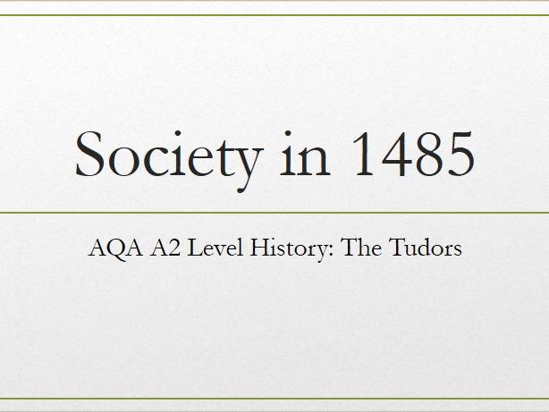 Society in 1485: A2 A Level History: The Tudors (1485-1603)