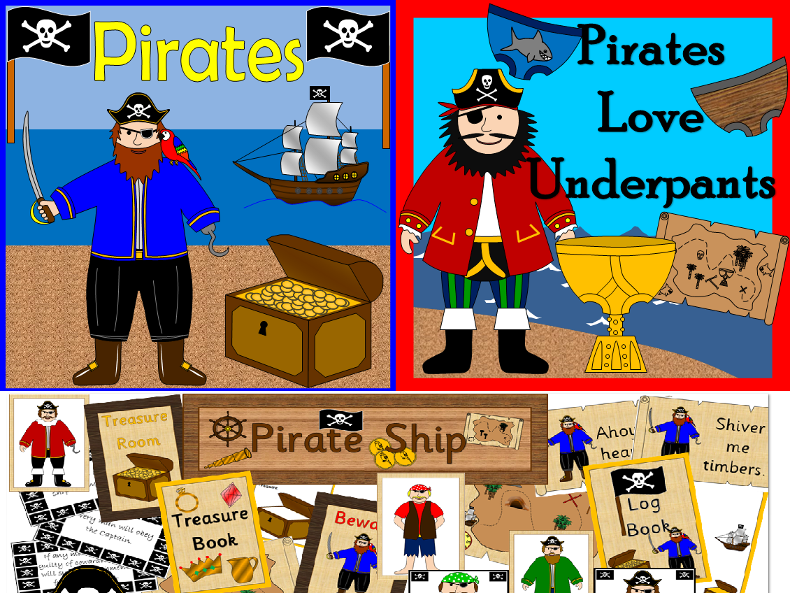 Pirates bumper pack- plus pirate ship role play