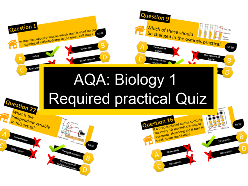 AQA B1 Required Practical Revision Quiz