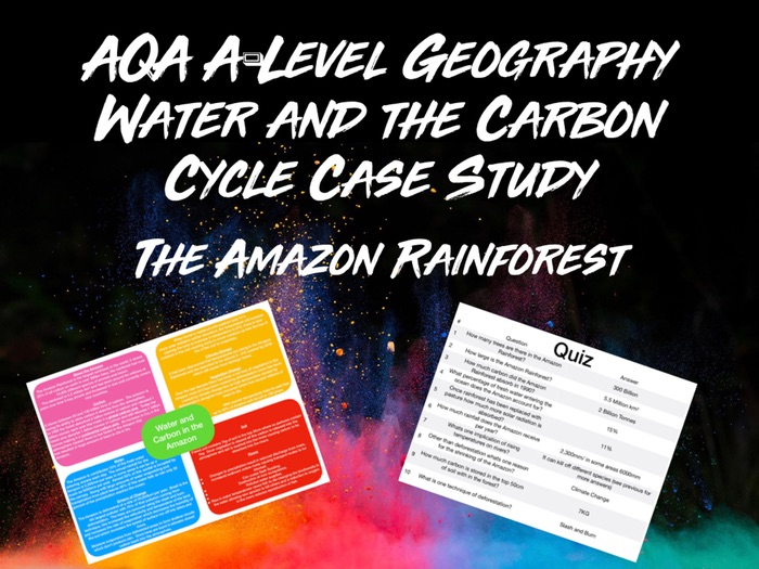 AQA A-Level Geography Water and Carbon Cycles The Amazon Rainforest Case Study With Quiz