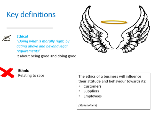 GCSE 9-1 Business Theme 2 Ethics, the environment and business