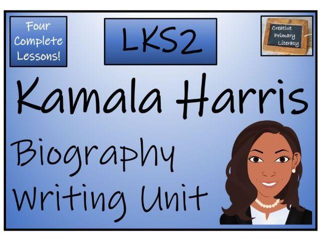 LKS2 Kamala Harris Biography Writing Activity