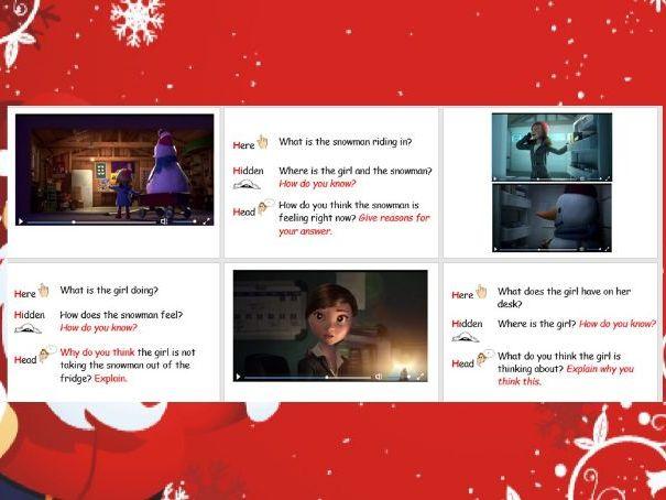 English Christmas Reading Inference Lesson KS2