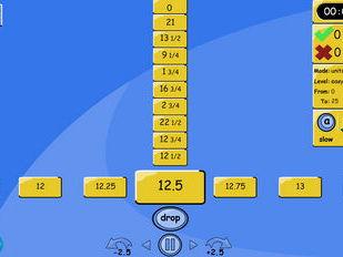 Number Line Drop - FRACTIONS