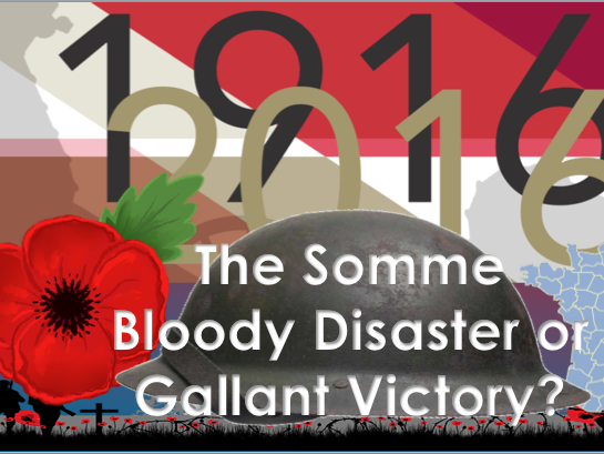 Battle of the Somme 6th form lecture
