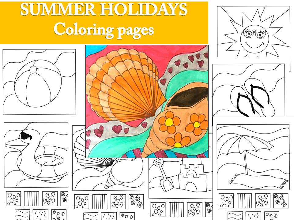 Coloring pages - Summer  beach holidays