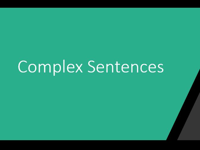 Sentence Structure Pt. 2 TEFL