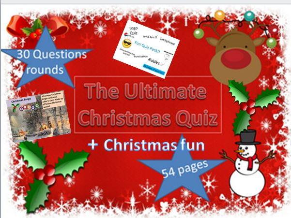 The Ultimate Christmas Quiz + Christmas Fun and Bingo