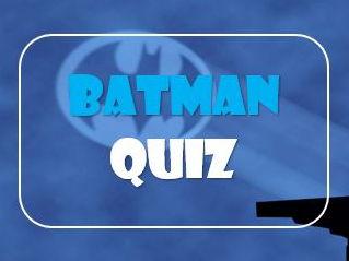Superheroes: 50 Years of Batman Quiz