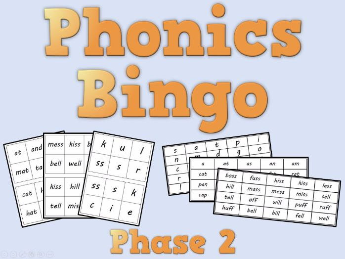Phonics Bingo – Phase 2