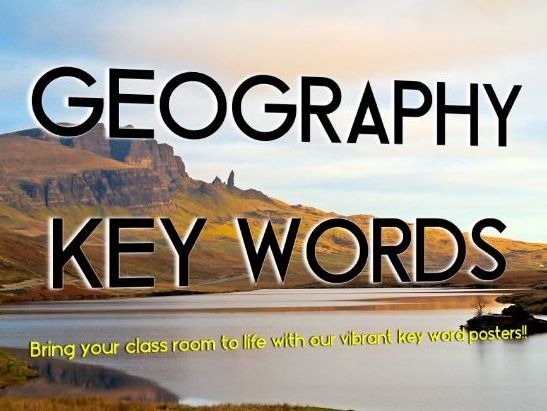 GCSE Geography Key Word Posters - Updated for 2018!!