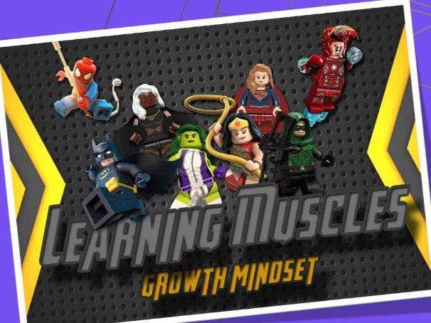 Growth Mindset Superhero Learning Posters