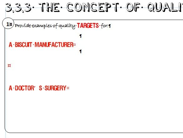 AQA GCSE Business (9-1) 3.3.3 The Concept of Quality Learning Mat / Revision