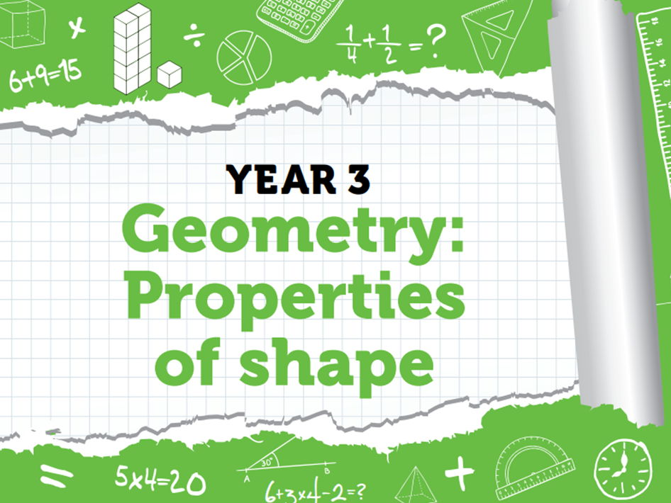 Year 3 – Properties of shapes – Summer week 7 to 8 – Using turns and angles, recognising 2D and 3D shapes