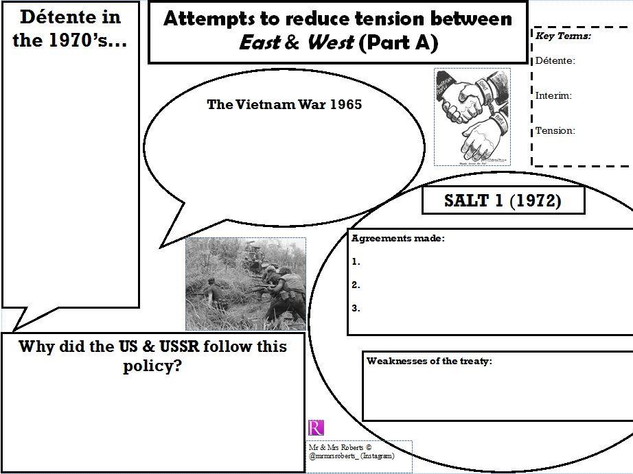 Edexcel GCSE History - Superpower relations & the Cold War - Topic 3.1 - Detente SALT 1