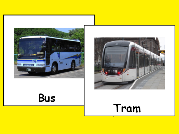 Transportation Vocabulary Photo Flascards for Special Education and ESL