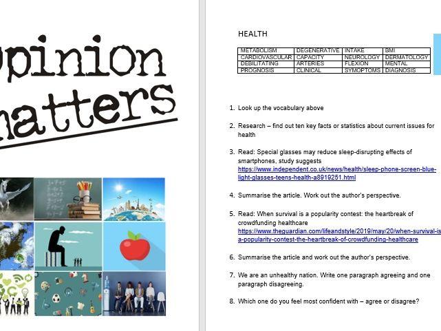 GCSE Language Paper 2 Booklet - Opinion Matters