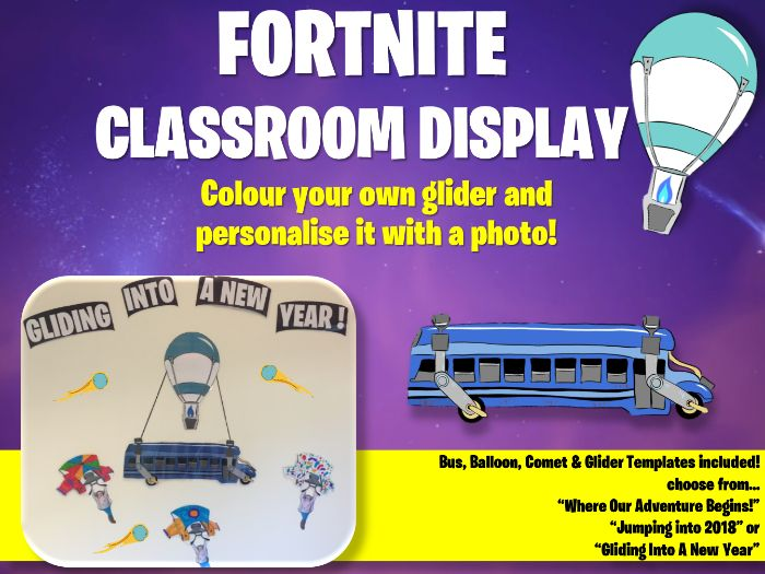 Fortnite Classroom Display ( EDITABLE ) Back to School