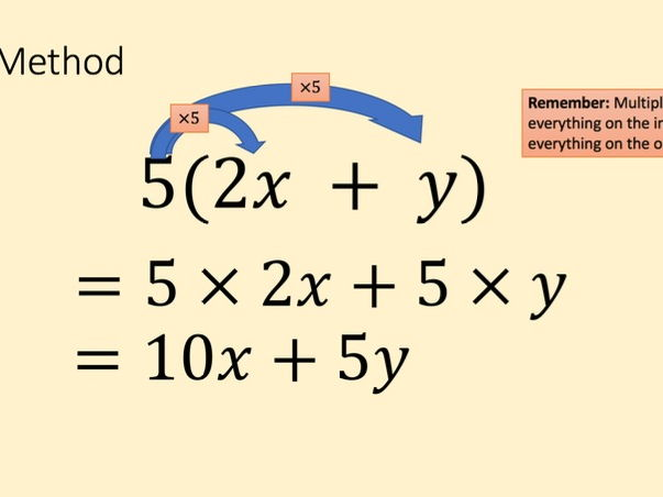 Differentiated expanding single brackets lesson and homework