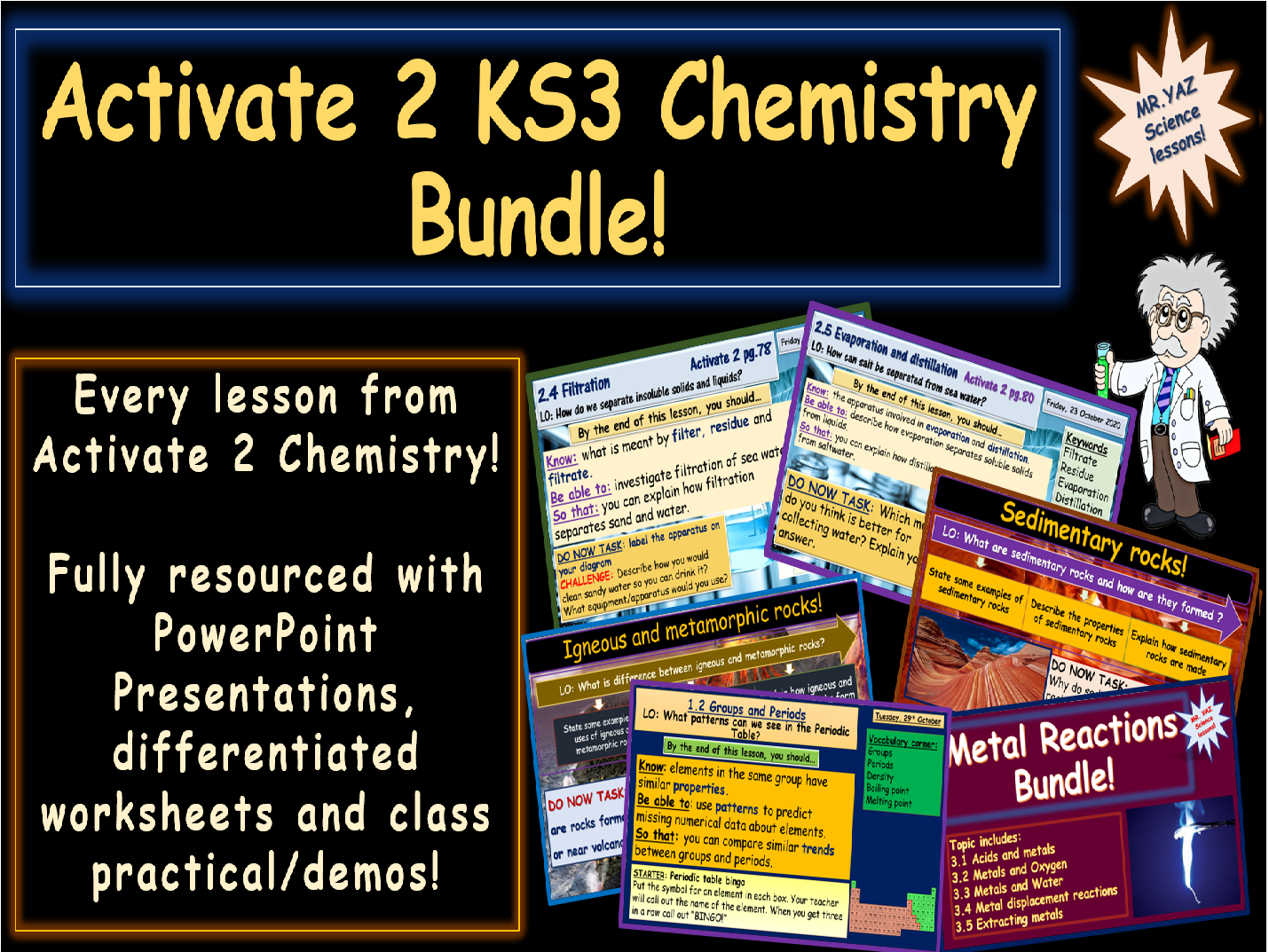 Activate 2 KS3 Chemistry bundle