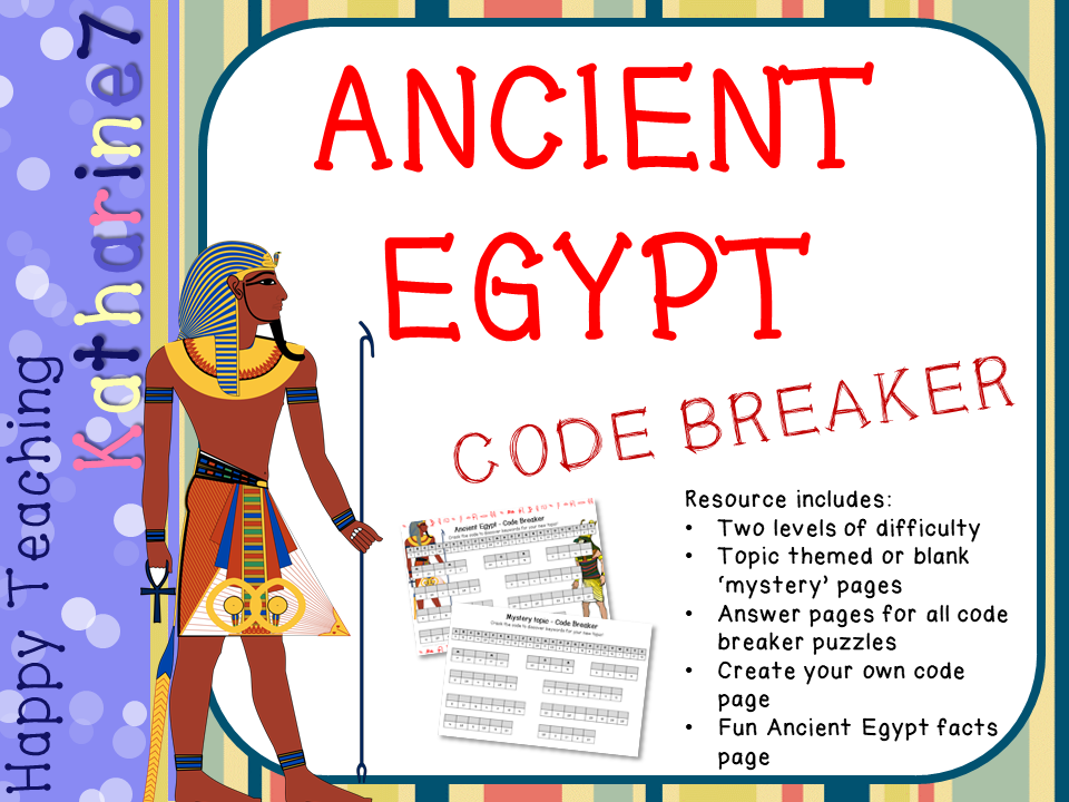 Ancient Egypt Code Breaker for topic vocabulary