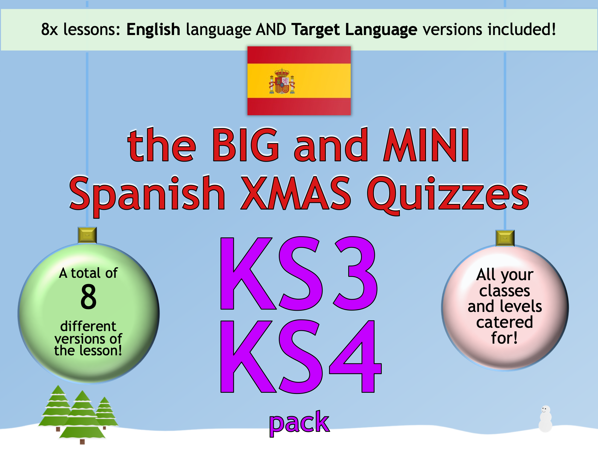 The BIG & MINI Spanish Christmas Quiz (KS3/KS4)