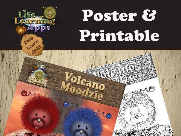 Poster: Volcano Moodzie