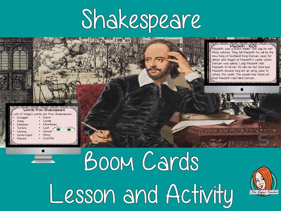 Shakespeare - Boom Cards Digital Lesson