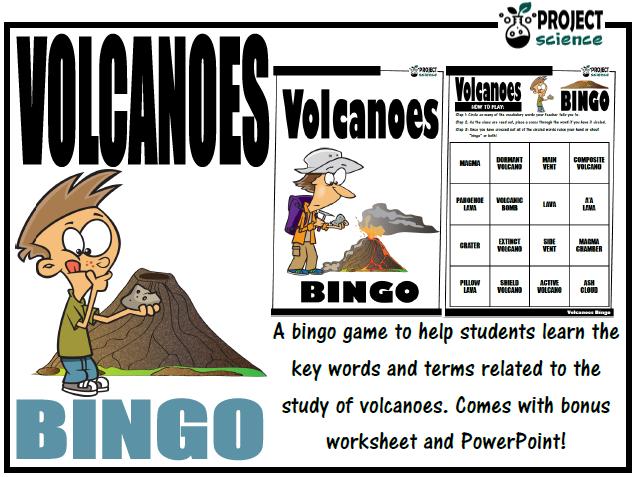 Volcanoes Bingo