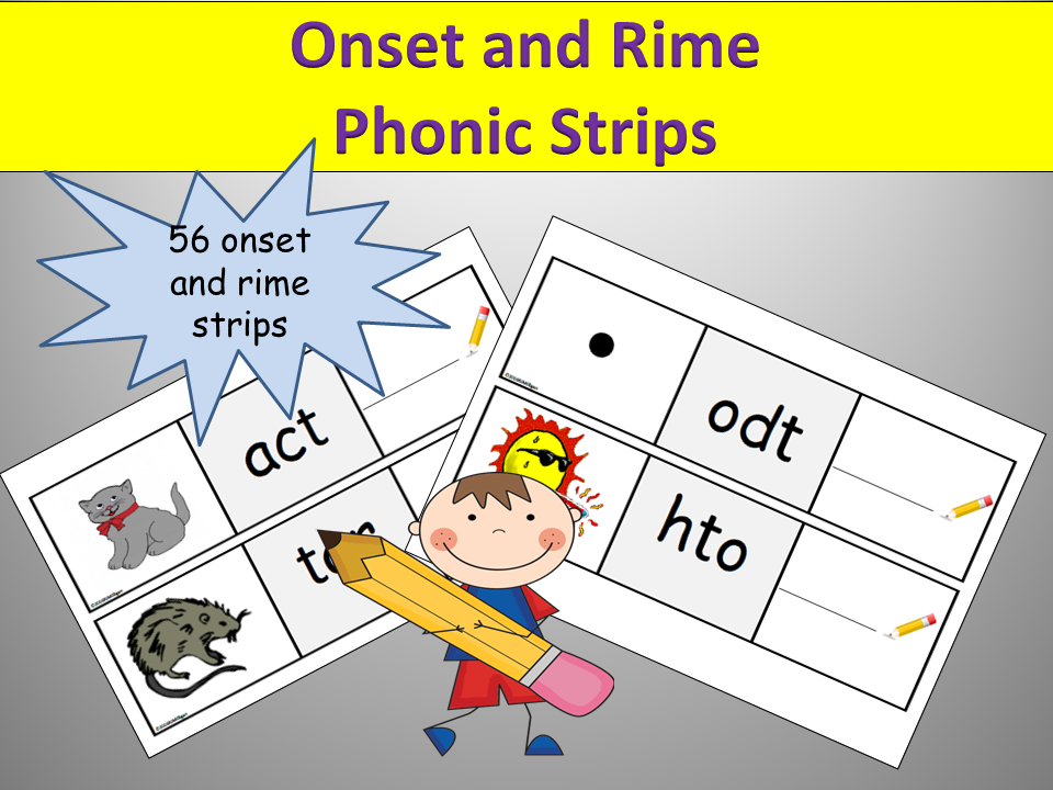 Onset and Rime/CVC Phonics Activity , Sorting words and Cut/Paste ...