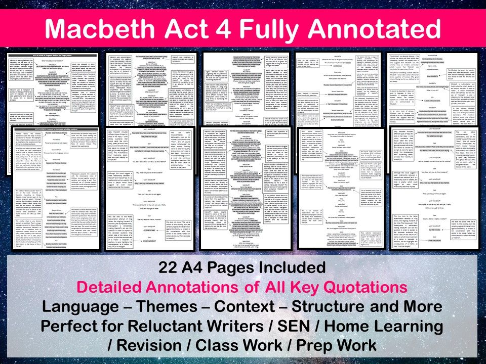MACBETH ACT 4 FULLY ANNOTATED
