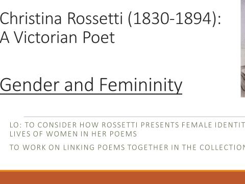 Rossetti: Gender and Femininity Poems