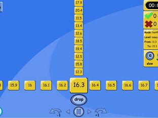 Number Line Drop - TENTHS