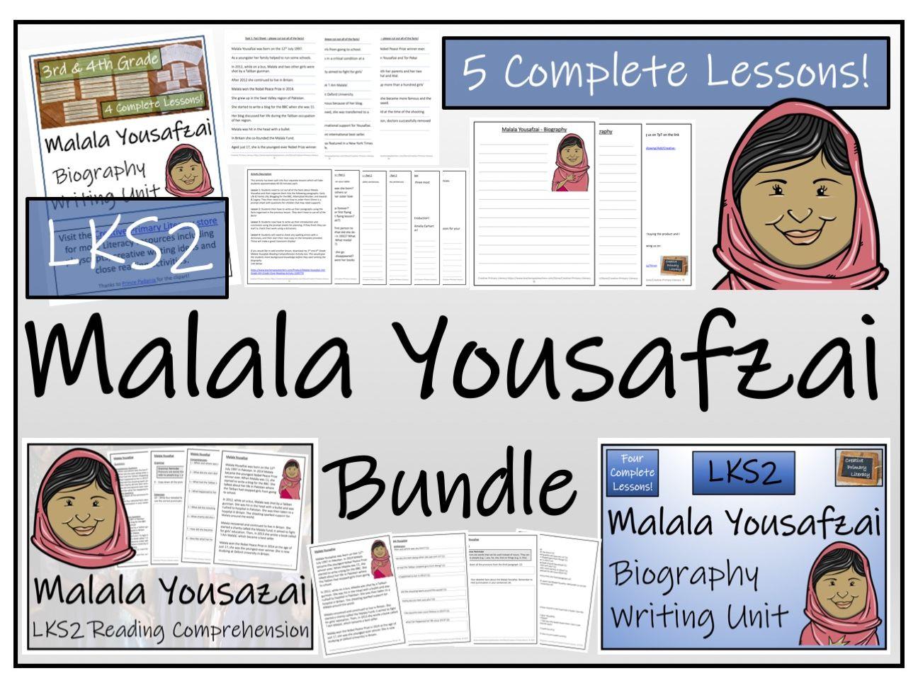 LKS2 - Malala Yousafzai Reading Comprehension & Biography Bundle