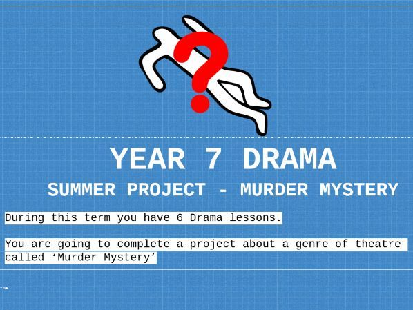 Home Learning Murder Mystery SOW