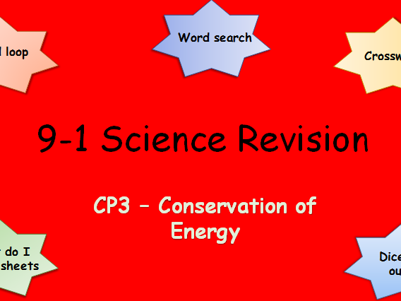 Edexcel CP3 Conservation of Energy Revision pack Science 9-1