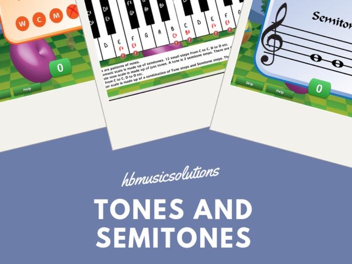 Tones And Semitones Interactive Music Theory Activities