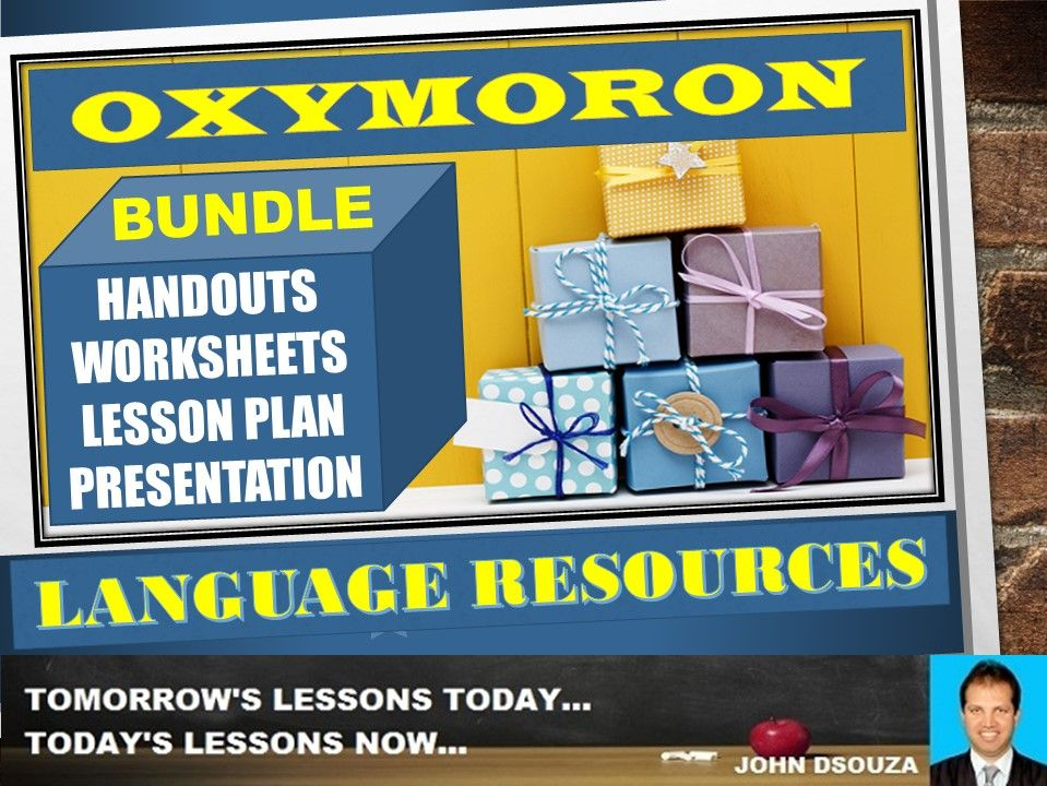 OXYMORON FIGURE OF SPEECH BUNDLE