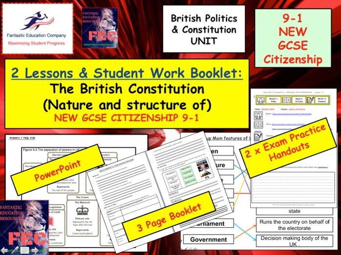 Uk British constitution and Separation of Powers GCSE Citizenship 9-1 NEW