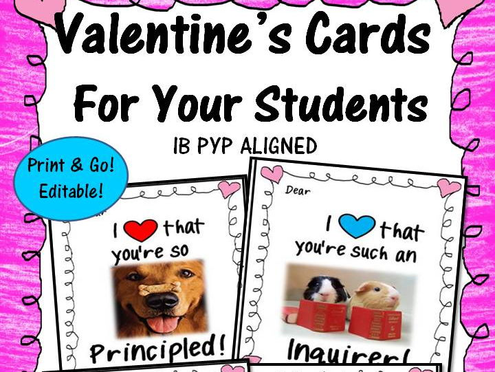 Empowering Valentine's Cards for Your Students