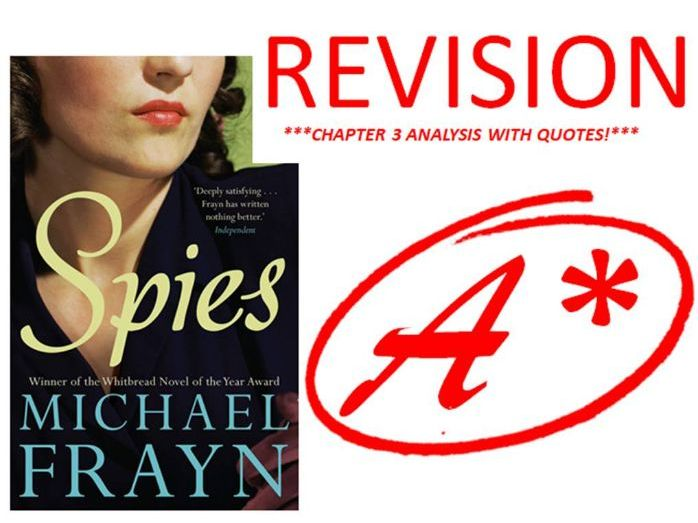 SPIES BY MICHAEL FRAYN CHAPTER 3 REVISION