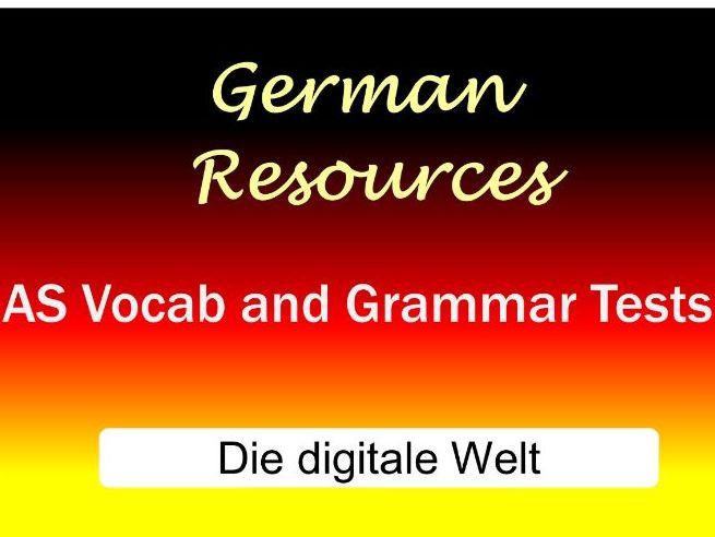 German AS Vocab and Grammar Tests - Die digitale Welt