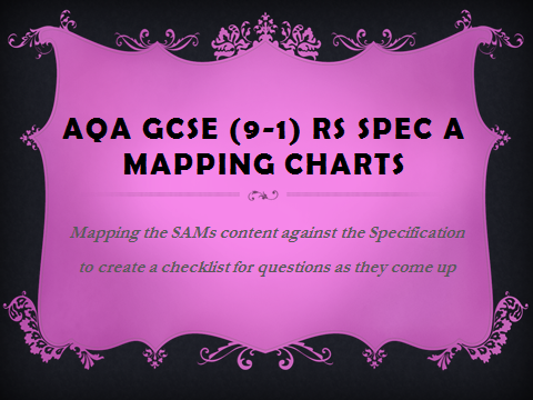 AQA GCSE (9-1) RS Specification A - mapping charts for Religion SAMS