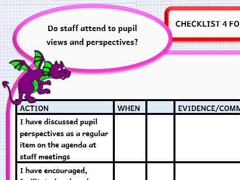 Pupil Participation Estyn Best Practice -  Checklists for Staff